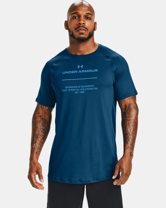 Men's UA MK-1 Graphic Short Sleeve, Blue, pdpMainDesktop image number 0