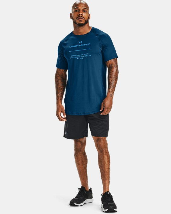 Men's UA MK-1 Graphic Short Sleeve, Blue, pdpMainDesktop image number 1
