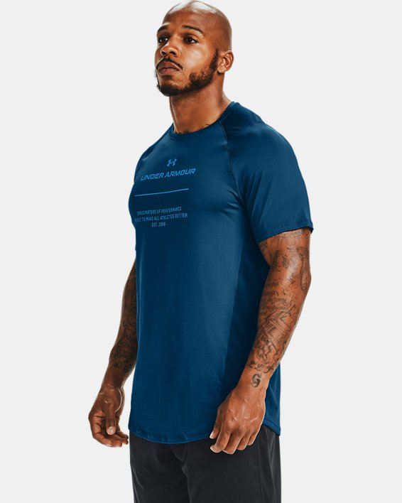 Men's UA MK-1 Graphic Short Sleeve, Blue, pdpMainDesktop image number 3