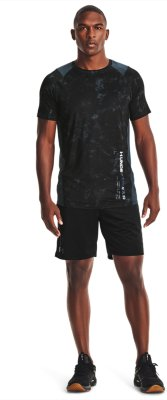 Under Armour MK1 Printed Short Sleeve Mens Running Top Black