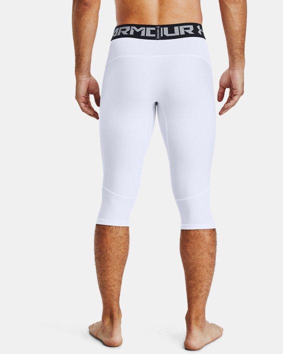 Men's UA Baseline Compression Knee Tights, White, pdpMainDesktop image number 2