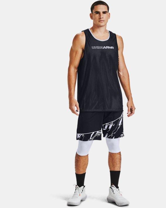 Men's UA Baseline Compression Knee Tights, White, pdpMainDesktop image number 1