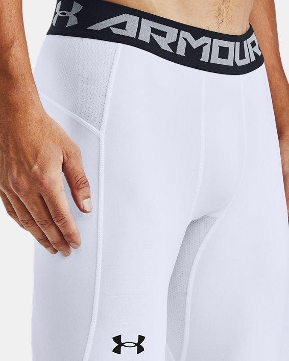 Men's UA Baseline Compression Knee Tights, White, pdpMainDesktop image number 3