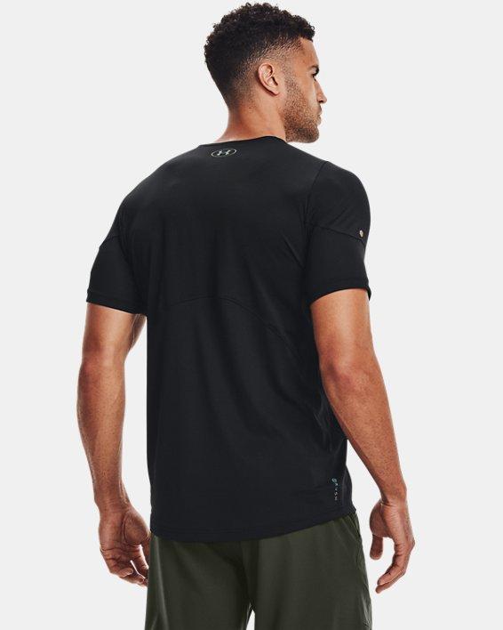 Men's UA RUSH™ HeatGear® 2.0 Short Sleeve, Black, pdpMainDesktop image number 3