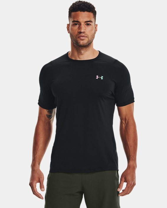 Men's UA RUSH™ HeatGear® 2.0 Short Sleeve, Black, pdpMainDesktop image number 2