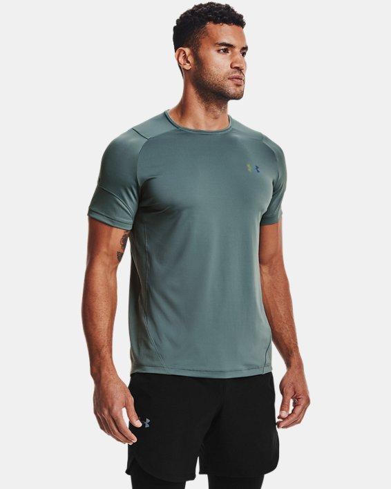 Men's UA RUSH™ HeatGear® 2.0 Short Sleeve, Blue, pdpMainDesktop image number 1