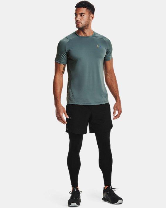 Men's UA RUSH™ HeatGear® 2.0 Short Sleeve, Blue, pdpMainDesktop image number 0