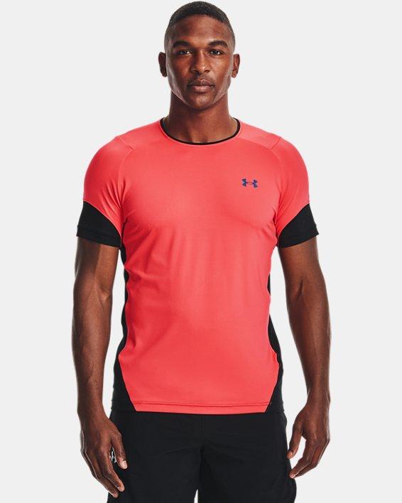 Men's UA RUSH™ HeatGear® 2.0 Short Sleeve, Red, pdpMainDesktop image number 1