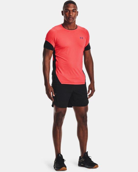 Men's UA RUSH™ HeatGear® 2.0 Short Sleeve, Red, pdpMainDesktop image number 0