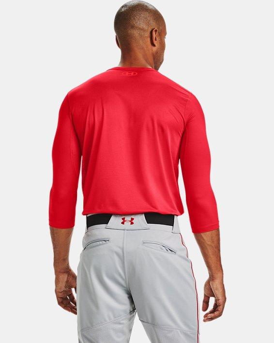 Men's UA Iso-Chill ¾ Sleeve Shirt, Red, pdpMainDesktop image number 2