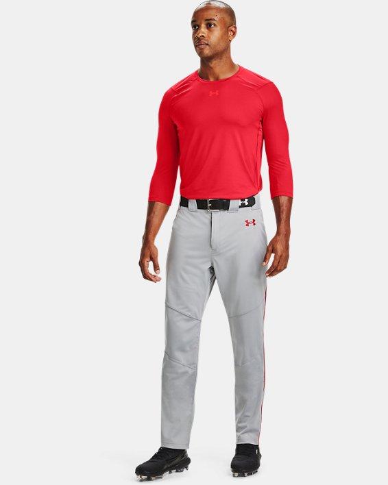 Men's UA Iso-Chill ¾ Sleeve Shirt, Red, pdpMainDesktop image number 0