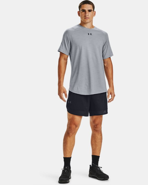 Short UA Training Stretch 18cm pour homme, Black, pdpMainDesktop image number 2