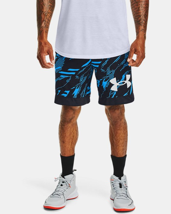 Men's UA Printed Retro Shorts, Black, pdpMainDesktop image number 0