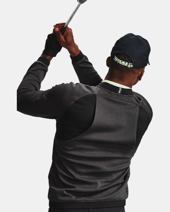 Men's UA Range Unlimited Storm Full Zip Bomber Jacket, Gray, pdpMainDesktop image number 6