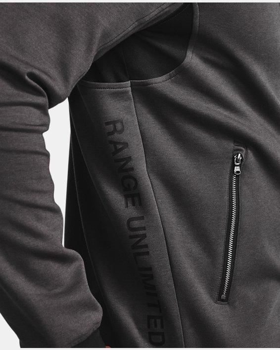 Men's UA Range Unlimited Storm Full Zip Bomber Jacket, Gray, pdpMainDesktop image number 3
