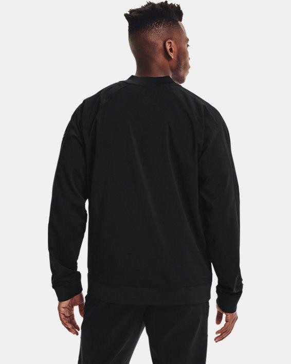 Men's Curry UNDRTD Warmup Jacket, Black, pdpMainDesktop image number 2