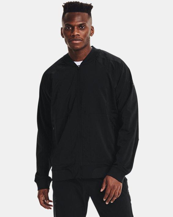 Men's Curry UNDRTD Warmup Jacket, Black, pdpMainDesktop image number 1