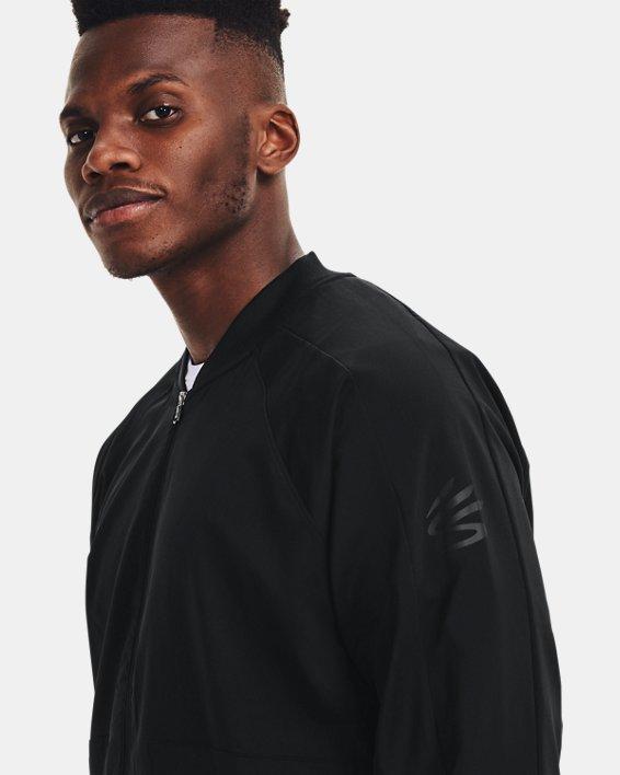 Men's Curry UNDRTD Warmup Jacket, Black, pdpMainDesktop image number 3