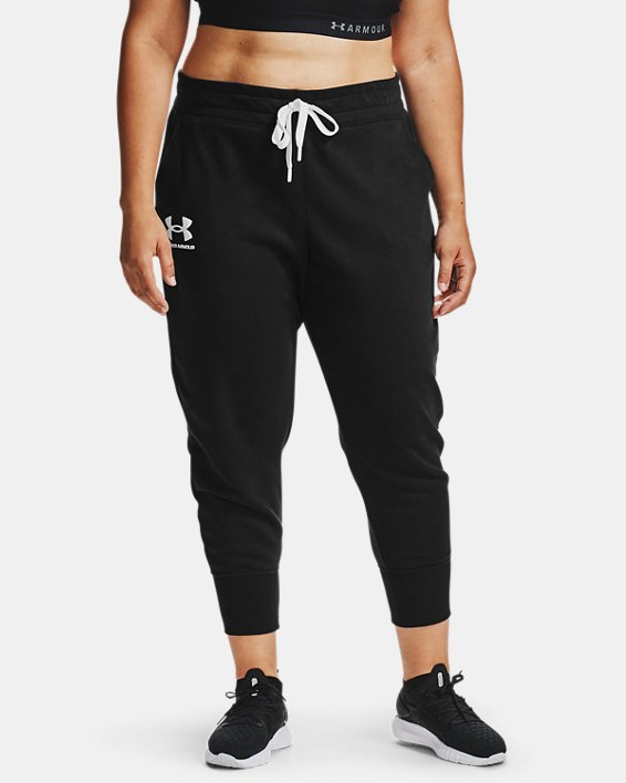 Women's UA Rival Fleece Joggers, Black, pdpMainDesktop image number 1