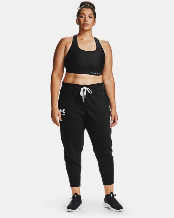 Women's UA Rival Fleece Joggers, Black, pdpMainDesktop image number 0