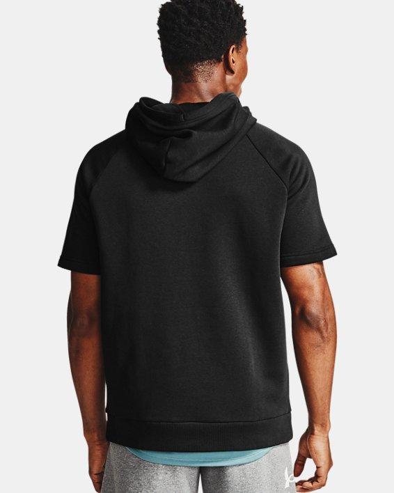 Sweat à capuche et manches courtes UA Rival Fleece Big Logo pour homme, Black, pdpMainDesktop image number 3