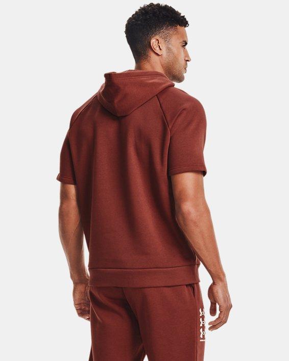 Men's UA Rival Fleece Multilogo Short Sleeve Hoodie, Red, pdpMainDesktop image number 2
