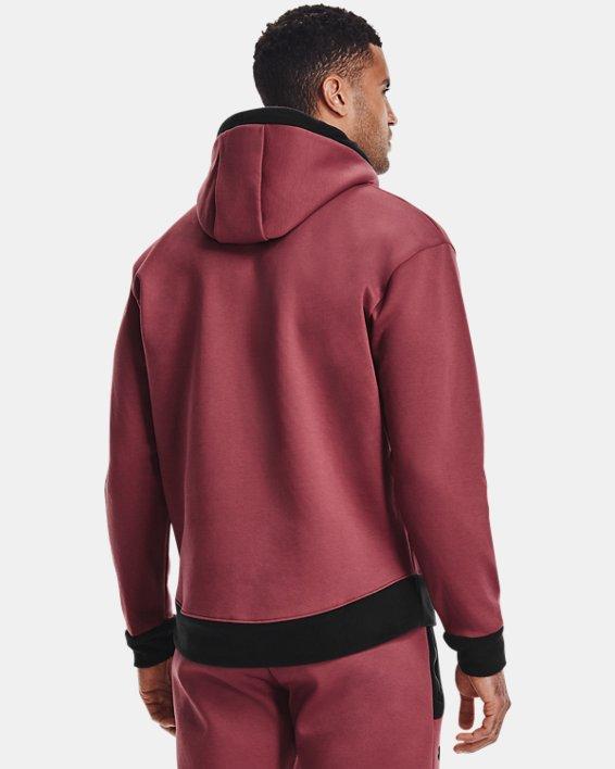 Men's UA RUSH™ Fleece Hoodie, Red, pdpMainDesktop image number 1