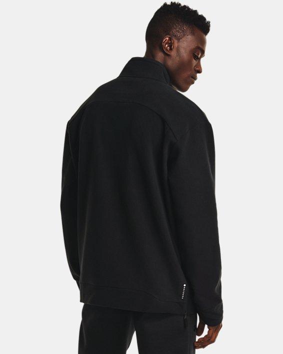 Men's UA RUSH™ Fleece ¼ Zip, Black, pdpMainDesktop image number 2
