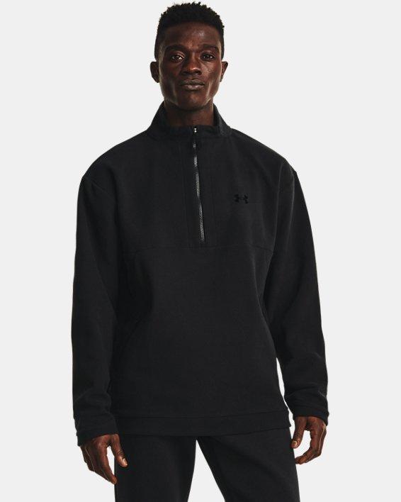 Men's UA RUSH™ Fleece ¼ Zip, Black, pdpMainDesktop image number 1