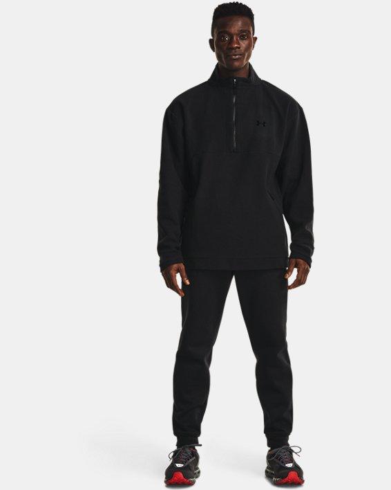 Men's UA RUSH™ Fleece ¼ Zip, Black, pdpMainDesktop image number 0