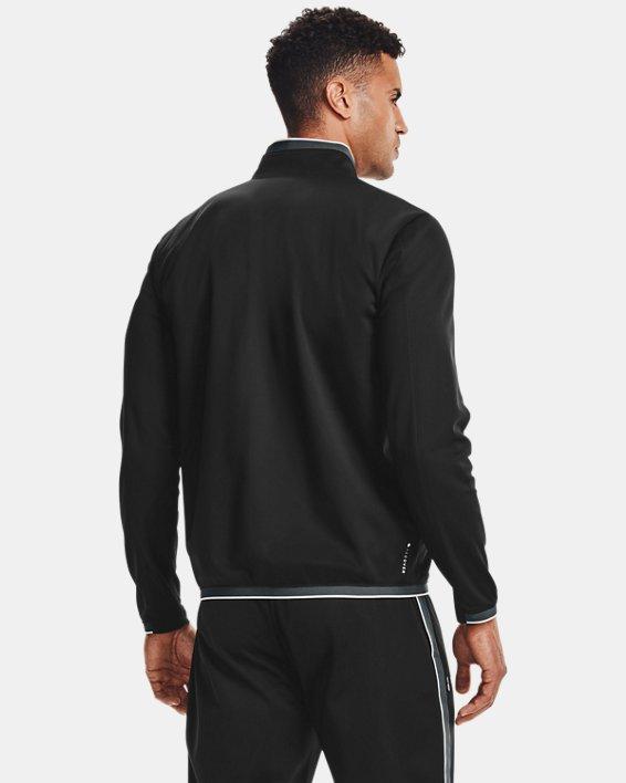 Men's UA RUSH™ Knit Track Jacket, Black, pdpMainDesktop image number 2