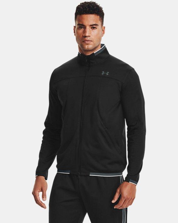 Men's UA RUSH™ Knit Track Jacket, Black, pdpMainDesktop image number 1