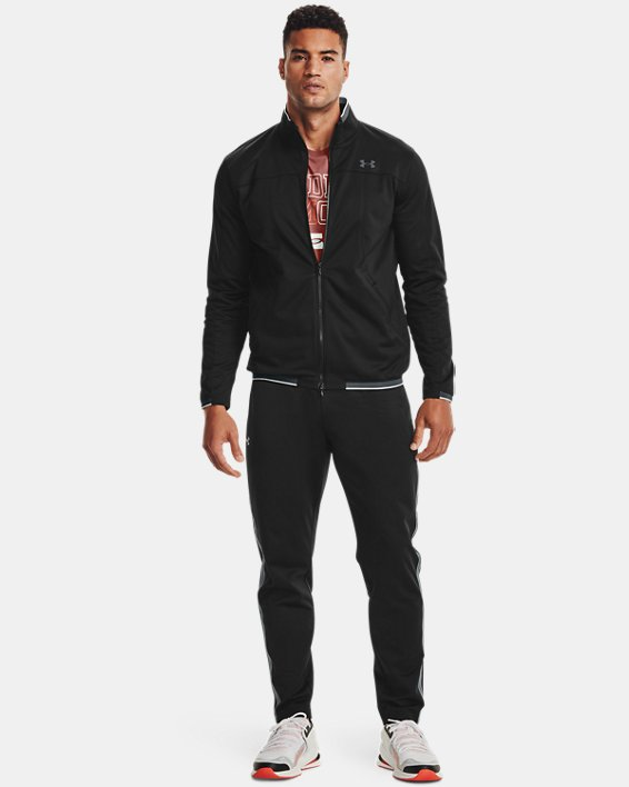 Men's UA RUSH™ Knit Track Jacket, Black, pdpMainDesktop image number 0