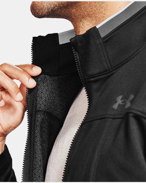 Men's UA RUSH™ Knit Track Jacket, Black, pdpMainDesktop image number 5
