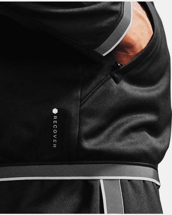 Men's UA RUSH™ Knit Track Jacket, Black, pdpMainDesktop image number 6