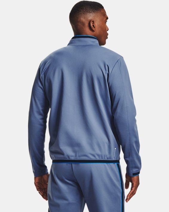 Men's UA RUSH™ Knit Track Jacket, Blue, pdpMainDesktop image number 2