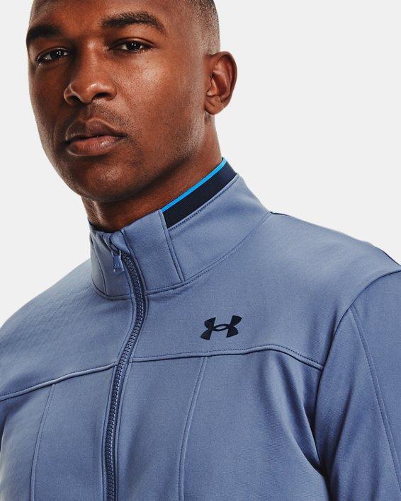 Men's UA RUSH™ Knit Track Jacket, Blue, pdpMainDesktop image number 5