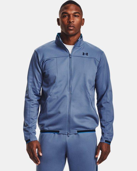 Men's UA RUSH™ Knit Track Jacket, Blue, pdpMainDesktop image number 1
