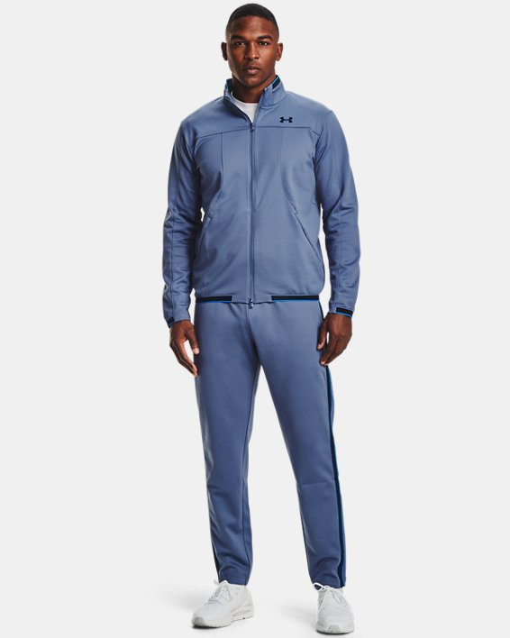 Men's UA RUSH™ Knit Track Jacket, Blue, pdpMainDesktop image number 0