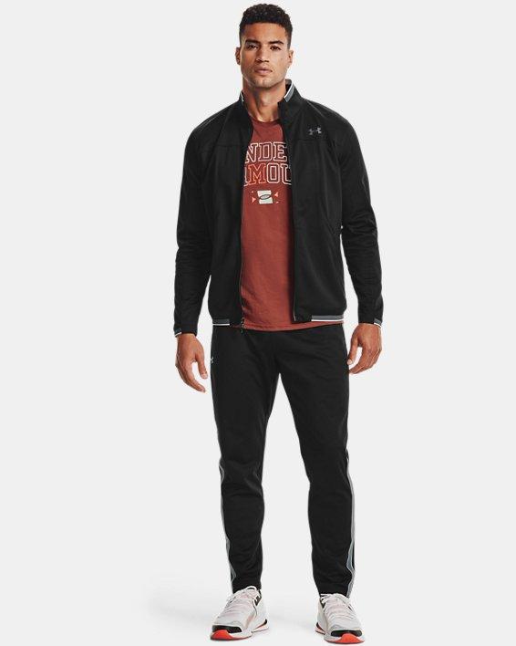 Men's UA RUSH™ Knit Track Pants, Black, pdpMainDesktop image number 2