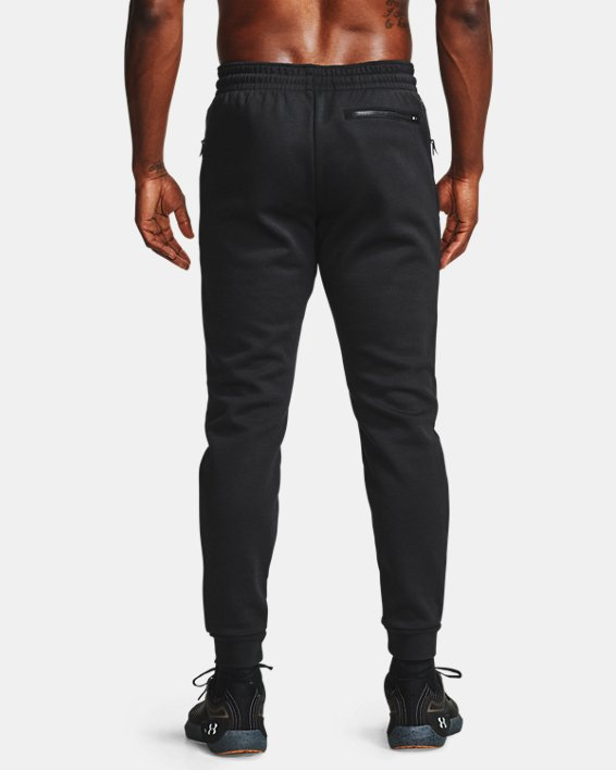 Men's UA RECOVER™ Fleece Pants, Black, pdpMainDesktop image number 3