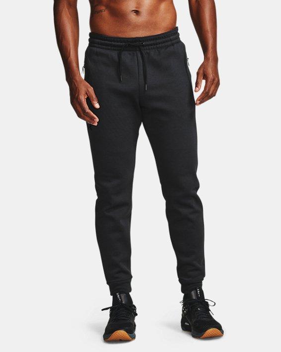 Men's UA RECOVER™ Fleece Pants, Black, pdpMainDesktop image number 2