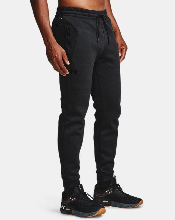Men's UA RECOVER™ Fleece Pants, Black, pdpMainDesktop image number 4
