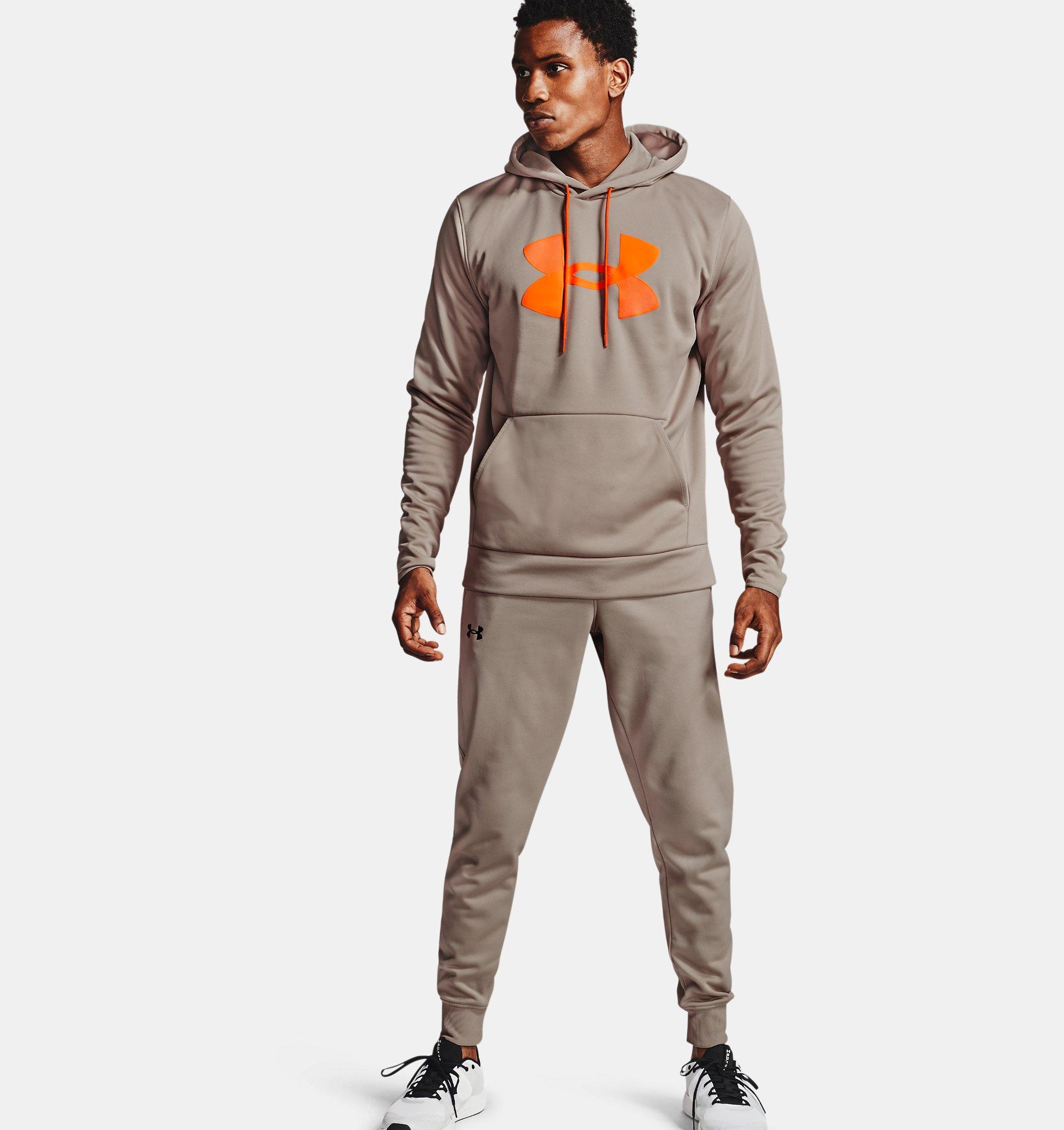 Men's Armour Fleece® Big Logo Hoodie, Brown, pdpZoomDesktop image number 0