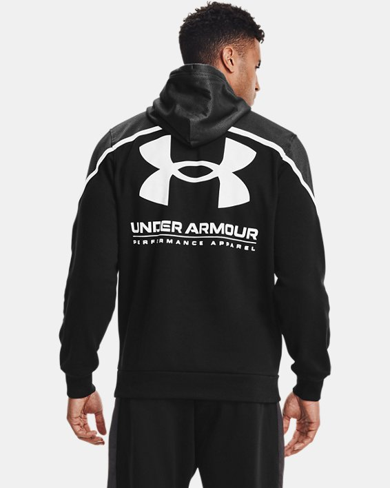 Men's UA Rival Fleece AMP Hoodie, Black, pdpMainDesktop image number 1