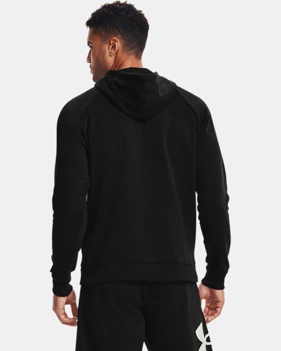 Men's UA Rival Fleece Big Logo Hoodie, Black, pdpMainDesktop image number 1