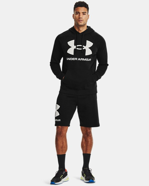 Men's UA Rival Fleece Big Logo Hoodie, Black, pdpMainDesktop image number 2