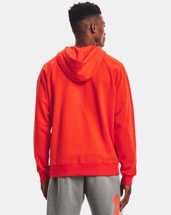 Sweat à capuche UA Rival Fleece Big Logo pour homme, Orange, pdpMainDesktop image number 1