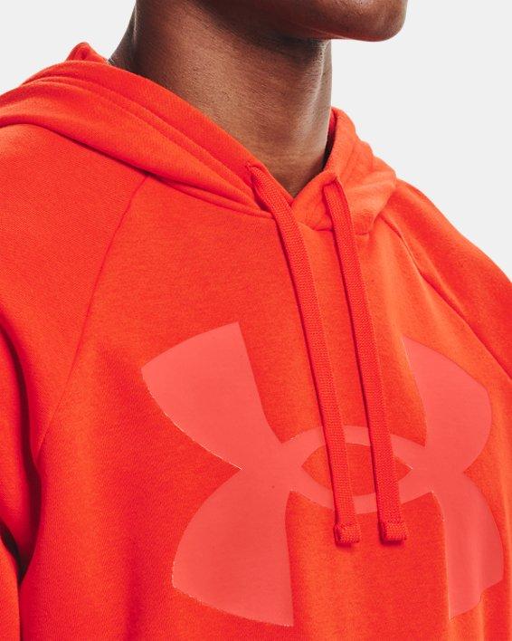 Sweat à capuche UA Rival Fleece Big Logo pour homme, Orange, pdpMainDesktop image number 3