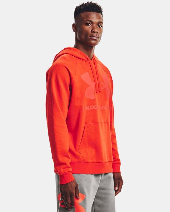 Sweat à capuche UA Rival Fleece Big Logo pour homme, Orange, pdpMainDesktop image number 0